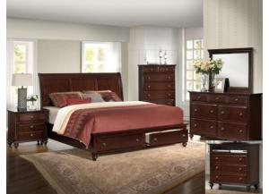 Portsmouth Storage Queen Bedroom Set (Queen Bed, Dresser/Mirror, & Chest)