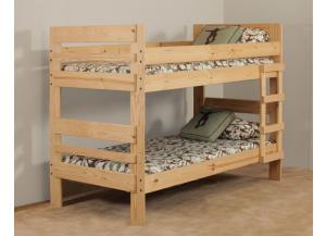 Twin/Twin Wood Bunkbed w/Ladder