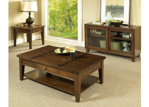 3 Pack Tables (Cocktail Table and 2 Drawer End Tables)