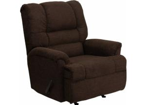 Image for Serta Upholstery 500 Radar Brown Big Man Rocker/Recliner