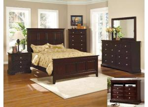 London Queen Bedroom Set (Queen Bed, Dresser/Mirror, & Chest)