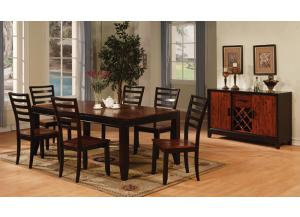 Acacia Table w/6 Chairs