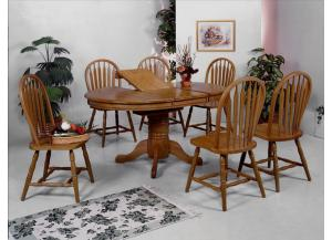 5 Pc Dark Oak Butterfly Dinette Set (Table & 4 Chairs)