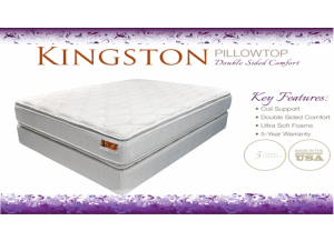 Double Pillowtop Flippable Queen Mattress & Boxspring Set