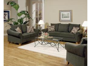 Serta Upholstry Cannon Smoke Sofa & Loveseat