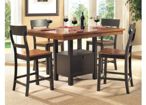Storage Pub Table w/4 Chairs