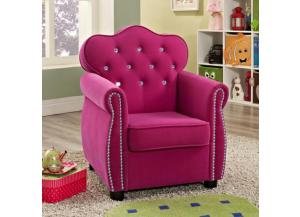 Image for Amelia Pink Kids Chair