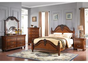 Jaquelyn Queen Bedroom Set (Queen Bed, Dresser/Mirror, and Chest)