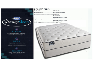 Simmons Beauty Sleep Cane Palm Remix Plush Hybrid Queen Mattress & Boxspring Set