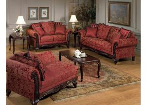 Image for Serta Upholstery Momentum Magenta Sofa W/ Loveseat Set