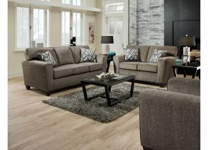 Image for Cornell Pewter Loveseat