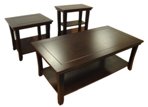Walnut 3 pack table set (Coffee table and 2 End tables)