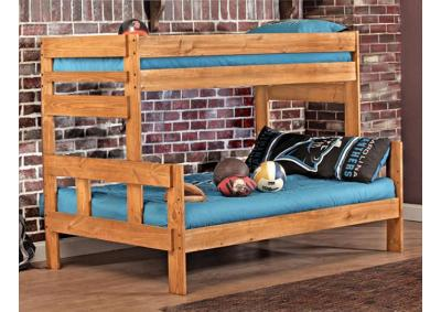 Image for Twin/Full Wood BunkBed