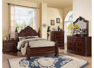 Charlotte Queen Bed Set (Queen Bed, Dresser/Mirror, & Chest)