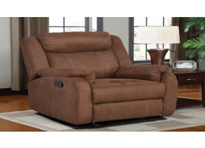 U9303 Chocolate Glider Recliner