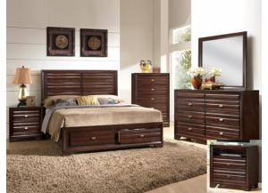 Stella Storage Queen Bedroom Set (Queen Storage Bed, Dr/Mirr & Chest)