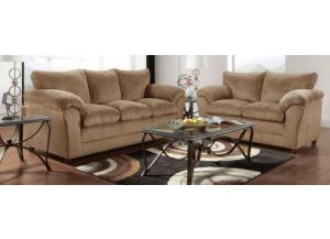 Image for Plush K. Taupe Loveseat