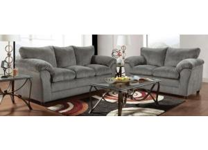 Image for Plush K. Gray Loveseat
