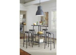 Image for Hattney Round Bar Table w/ 4 Tall Swivel Barstools