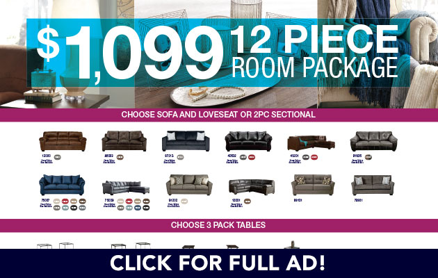 12 Piece Room Package
