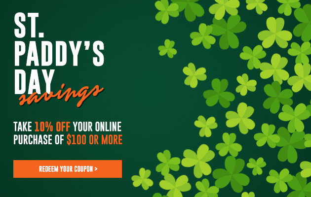 St Pat's 10% Off Coupon Sale