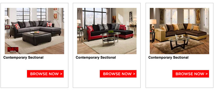 Discounted furniture store
