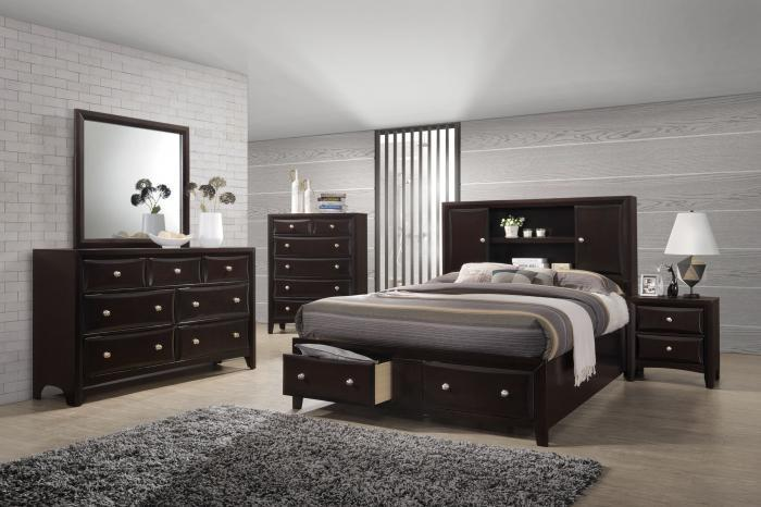 Queen Storage Bed, Dresser & Mirror,Life Styles