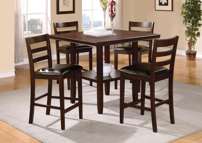 5 Piece Counter Height Dining Set,Home Gallery Showcase