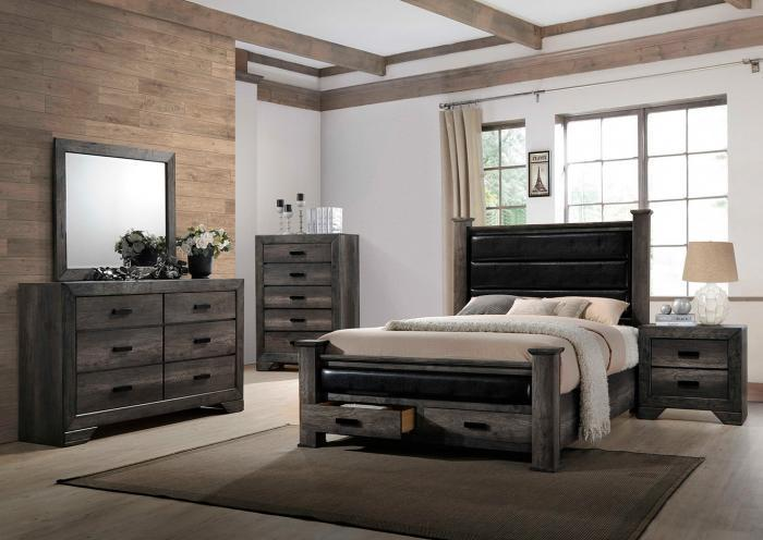 Elements Nathan 5 Piece Queen Storage Bedroom,InStore ONLY