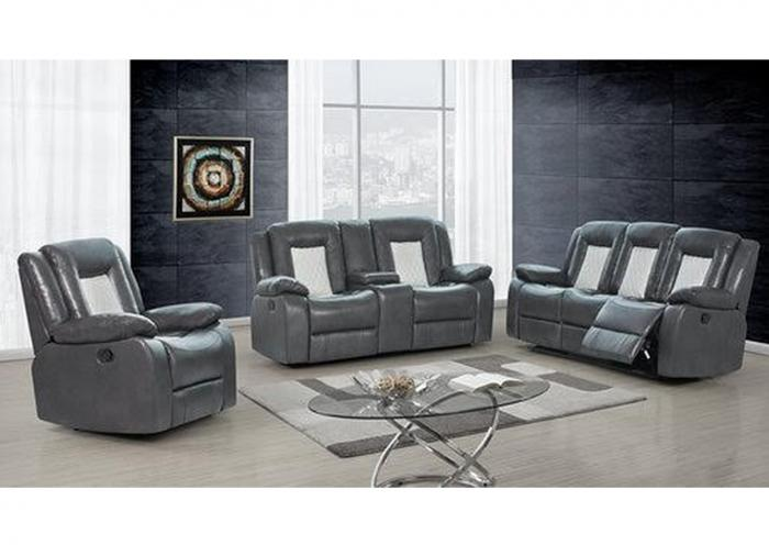 Reclining Sofa with Wireless Charger and Reclining Loveseat,Home Gallery Showcase
