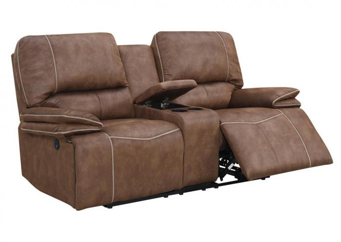 Sultry Dark Brown Power Reclining Sofa And Loveseat,Home Gallery Showcase