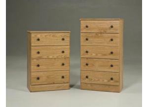 5 Drawer Chest - Oak