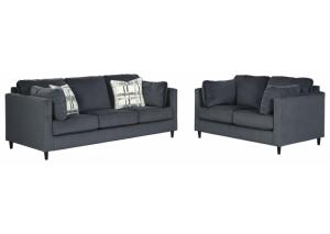 Kennewick Shadow Sofa and Loveseat