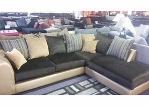 2 piece sectional $647 As-Is