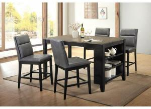 5pc counter set table and 4 chairs