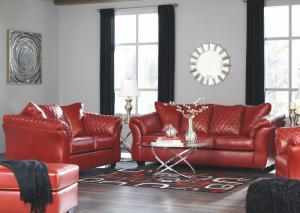 Betrillo Red Sofa and Loveseat