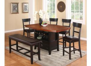 Image for Counter Height Table 2 Stools w/ bench