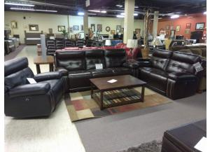 Leather Power Reclining Sofa & Loveseat