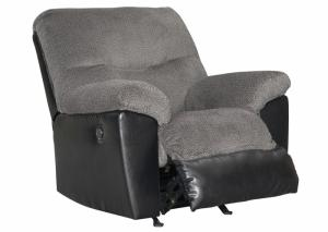 Gray and Black Millingar Rocker Recliner