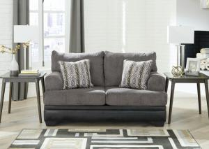 Gray and Black Millingar Loveseat
