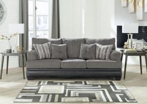 Gray and Black Millingar Sofa