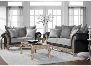 Grey Stationary Sofa & Loveseat,Home Gallery Showcase