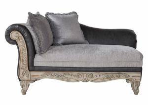 Hughes Grey Stationary Chaise