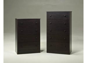 5 Drawer Chest - Merlot