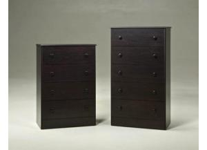 4 Drawer Chest - Merlot