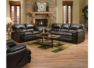 United Bingo Brown Sofa and Loveseat