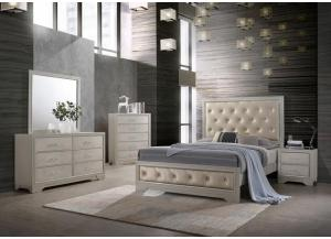 Lifestyle Silver Queen bed w/Dresser and Mirror,Life Styles