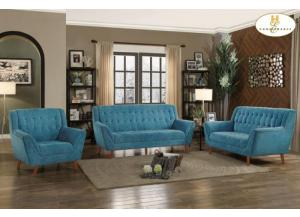 Blue Sofa and Love seat