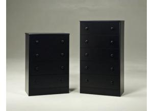 5 Drawer Chest - Black