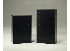 4 Drawer Chest - Black